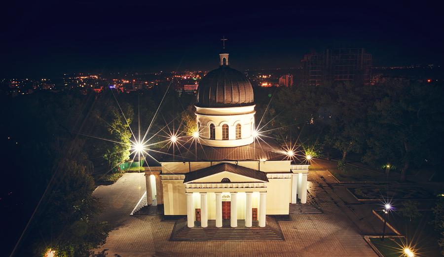 Night Chisinau Сentral Cathedral