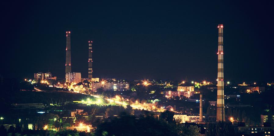 Night Chisinau str. Vadul - lui - Voda